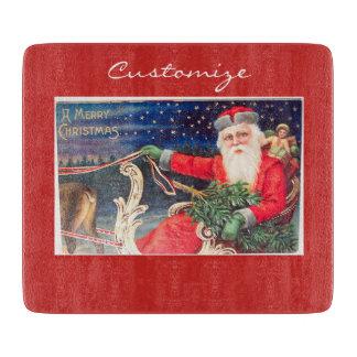 Santa on sleigh Thunder_Cove vintage Cutting Board