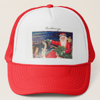 Santa on sleigh Thunder_Cove vintage Trucker Hat