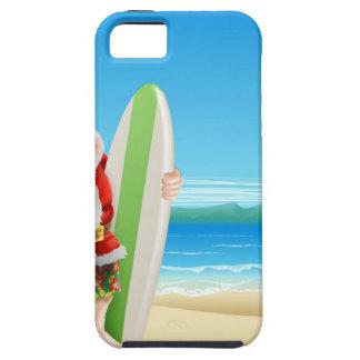 Santa on the beach iPhone 5 case