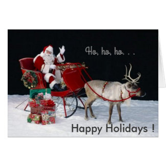 Santa on the Sledge, Greeting Card, Standard Card