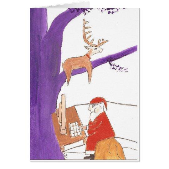 Santa ordering gifts online card