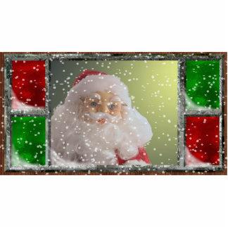Santa Ornament Photo Sculpture Ornament