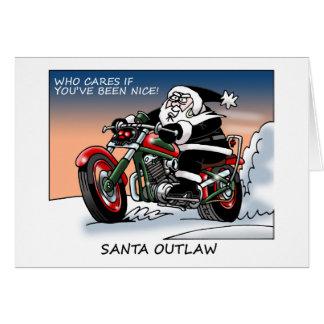 Santa Outlaw Christmas Card