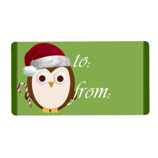 Santa Owl Gift Tags