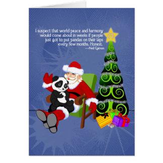 Santa Panda Card