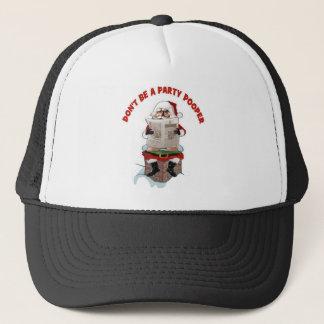 "Santa ""Party Pooper"" Funny Christmas Hat"