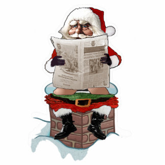 "Santa ""Party Pooper"" Funny Christmas Photo Cut Outs"
