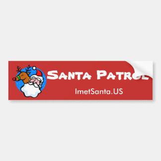 Santa Patrol Bumper Sticker