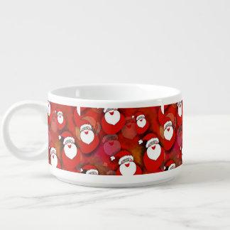 Santa Pattern Chili Bowl