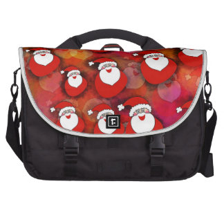 Santa Pattern Laptop Computer Bag