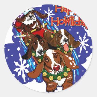 Santa Paws 2008 Round Sticker