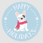 Santa Paws - Dog-Themed Happy Holidays Classic Round Sticker