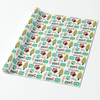 Santa Paws Dogs Personalized Wrapping Paper