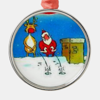Santa Peeing Christmas Tree Ornament