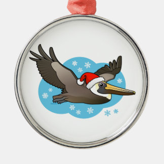 Santa Peli Silver-Colored Round Ornament