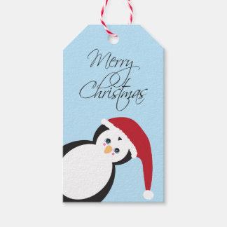Santa Penguin Christmas Gift Tag