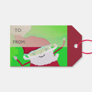 Santa + Personalize Text Pack Of Gift Tags
