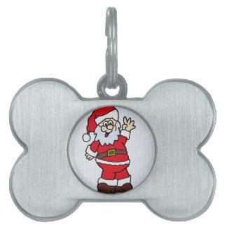 Santa Pet Name Tag
