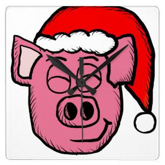 Santa Pig Clocks