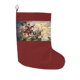 santa pirate christmas stocking