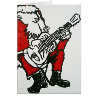 Santa Playing The Blues Card