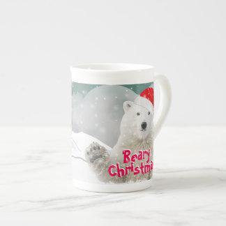 Santa Polar Bear | Beary Christmas Bone China Mug