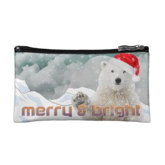 Santa Polar Bear | Beary Christmas Cosmetic Bag