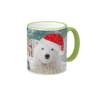 Santa Polar Bear   Beary Christmas Mugs