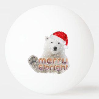 Santa Polar Bear | Beary Christmas Ping Pong Ball