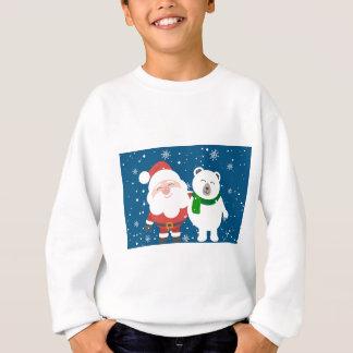 Santa Polar Bear Christmas Snow Snowflakes Cute Sweatshirt