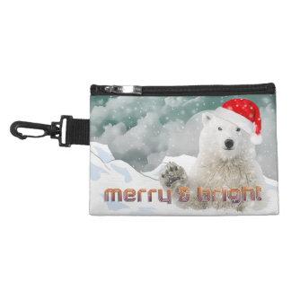 Santa Polar Bear | Clip On Accessory Bag