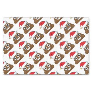 Santa Poop Christmas Gift Wrap Emoji Tissue Paper