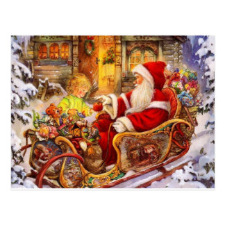 Santa_Preparing1 Postcard