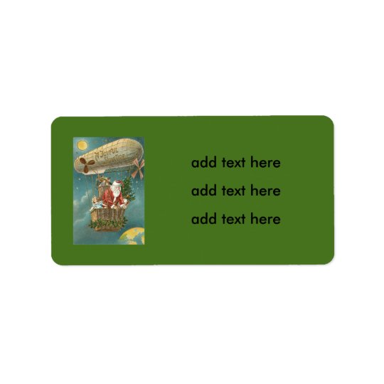 Santa Presents Gifts Christmas Tree Balloon Label