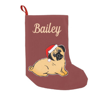 Santa Pug Custom Christmas Stocking
