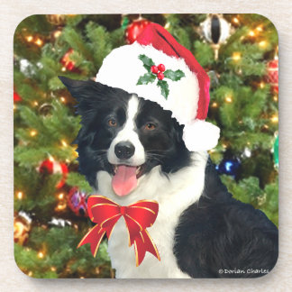 """Santa Pup"" Holiday Coaster Set"