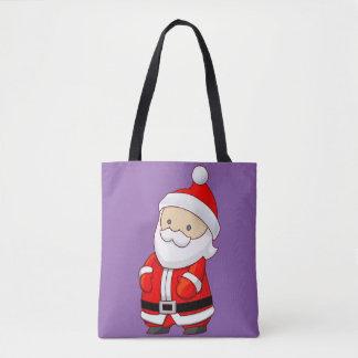 Santa Purple Tote Bag