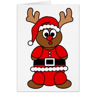 Santa R Greeting Card