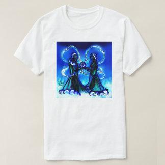Santa & Rachael Clause Holding Star Gem Gifts T-Shirt