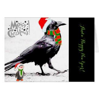 Santa Raven Holiday Greeting Card