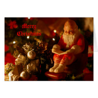 Santa Reading Card