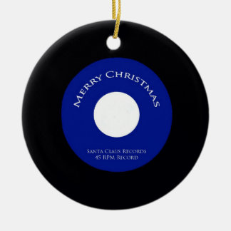 Santa Records 45 RPM Christmas Ornament