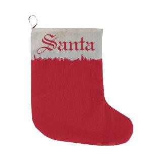 Santa Red with White Fur Christmas Stocking