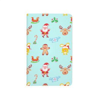 Santa, reindeer, bunny and cookie man Xmas pattern Journal