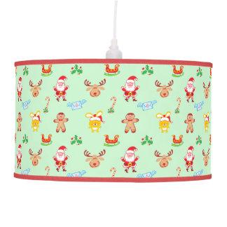 Santa, reindeer, bunny and cookie man Xmas pattern Pendant Lamp