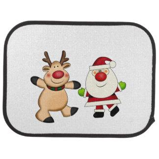 Santa & Reindeer Car Mat