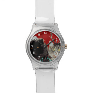 Santa & Reindeer Cats Watch