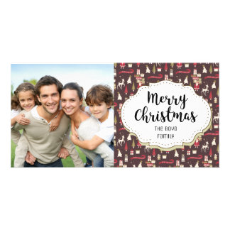 Santa Reindeer Gifts Christmas Picture Photo Card