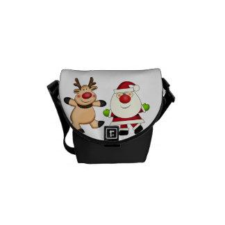 Santa & Reindeer Messenger Bags
