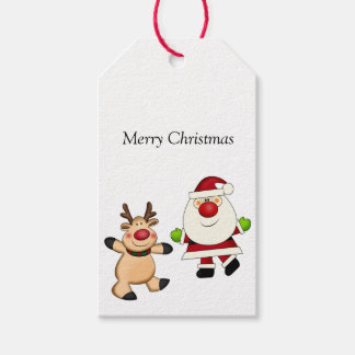 Santa & Reindeer Pack Of Gift Tags